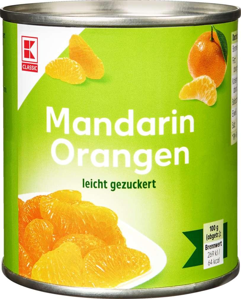 Abbildung des Sortimentsartikels K-Classic Mandarin-Orangen leicht gezuckert 312g
