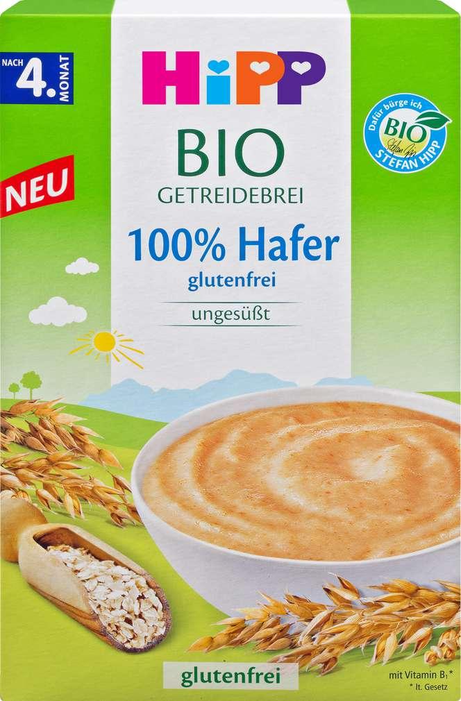 Abbildung des Sortimentsartikels Hipp Bio Getreide 100% Hafer ab dem 4. Monat 200g