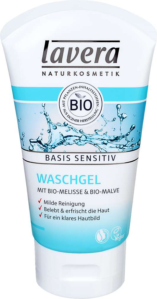 Abbildung des Sortimentsartikels Lavera Waschgel Basis sensitiv 125ml