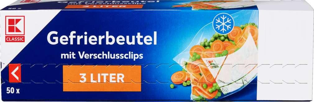 Abbildung des Sortimentsartikels K-Classic Gefrierbeutel mit Clip 3l