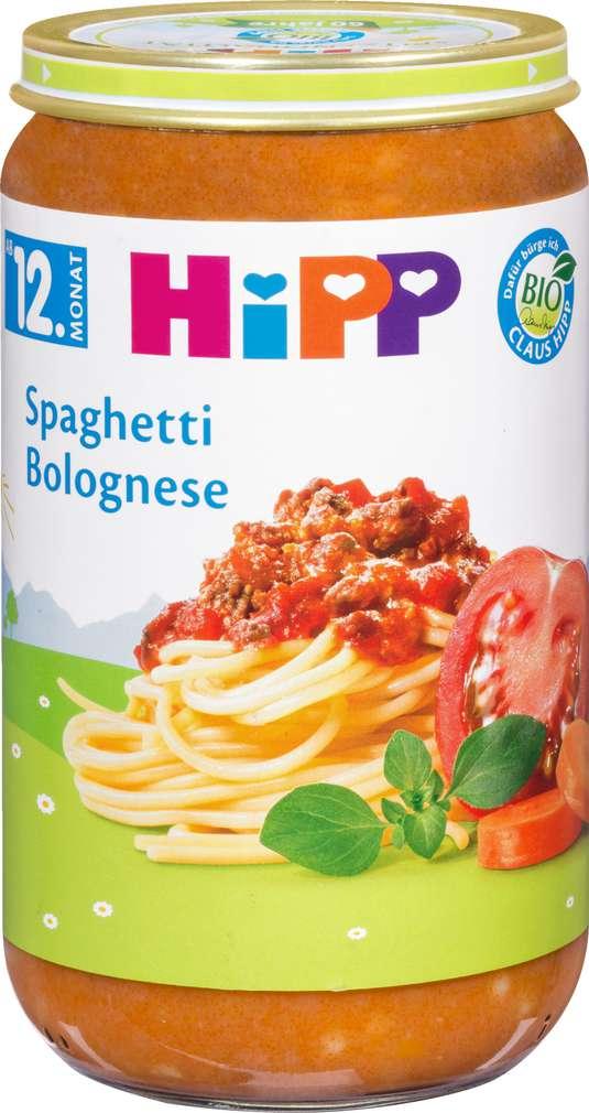 Abbildung des Sortimentsartikels Hipp Spaghetti Bolognese 250g
