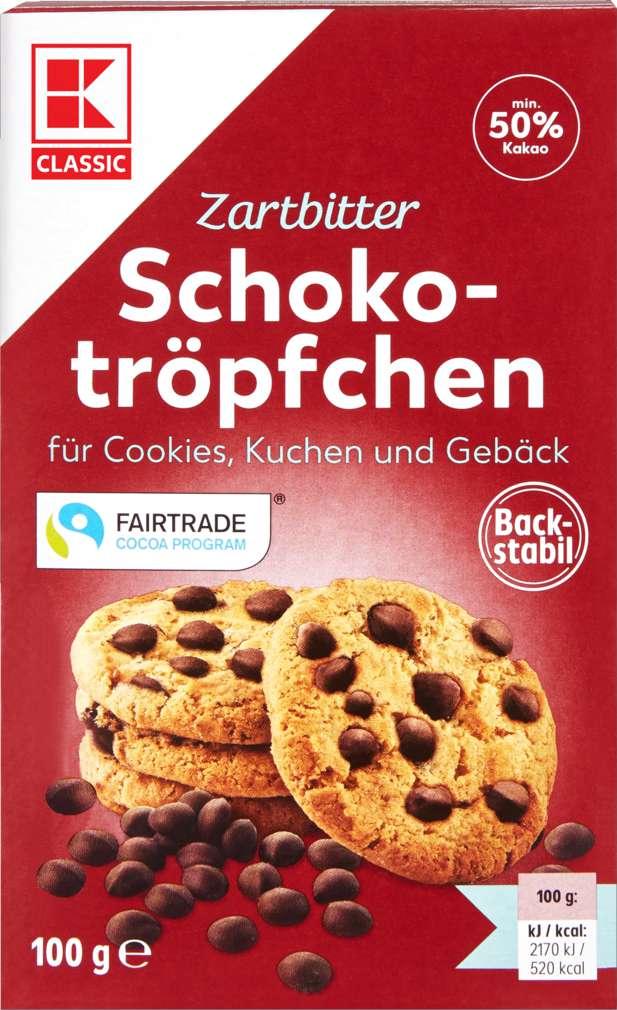 Abbildung des Sortimentsartikels K-Classic Schokotropfen Zartbitter 100g