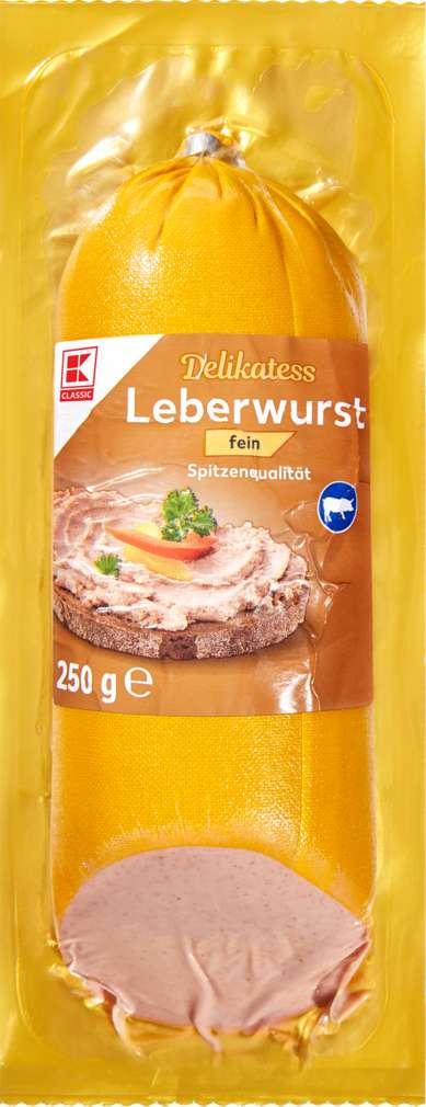 Abbildung des Sortimentsartikels K-Classic Delikatess Leberwurst fein 250g