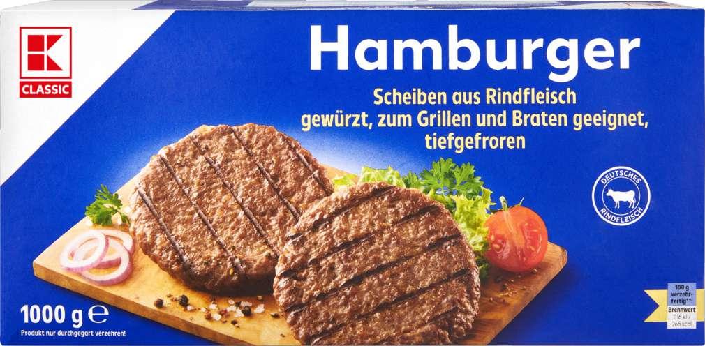Abbildung des Sortimentsartikels K-Classic Hamburger 1000g