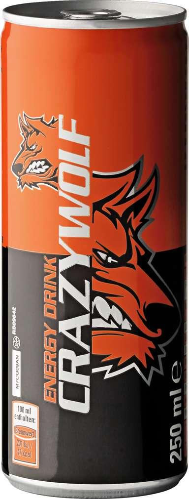 Abbildung des Sortimentsartikels Crazy Wolf Energy Drink 0,25l