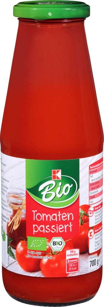Abbildung des Sortimentsartikels K-Bio Tomaten passiert 700g