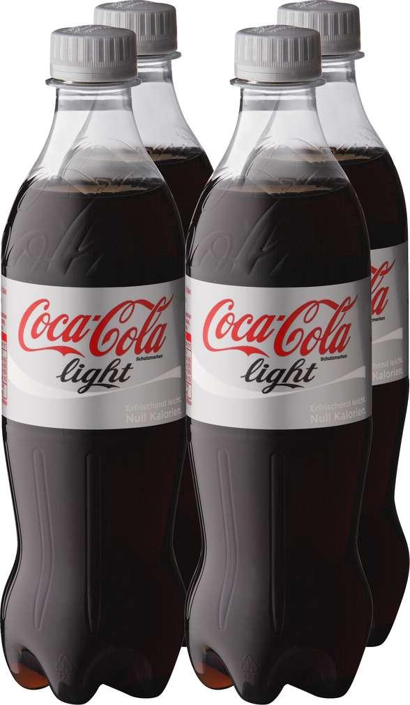 Abbildung des Sortimentsartikels Coca-Cola light 4x0,5l