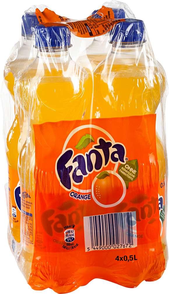 Abbildung des Sortimentsartikels Fanta Orange 4x0,5l