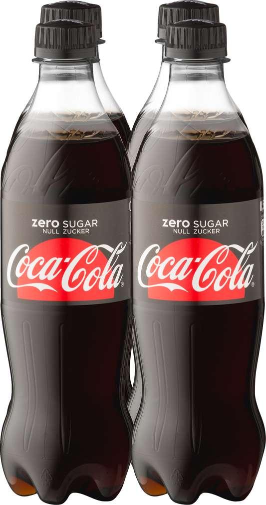 Abbildung des Sortimentsartikels Coca-Cola zero sugar 4x0,5l
