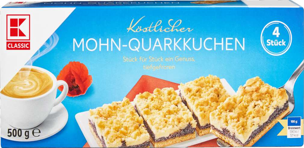 Abbildung des Sortimentsartikels K-Classic Mohn-Quarkkuchen 500g