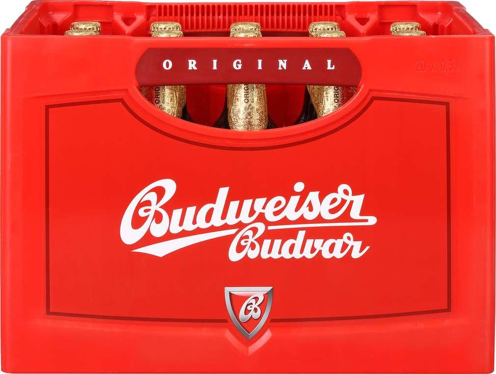 Abbildung des Sortimentsartikels Budweiser Budvar Lager 20x0,5l