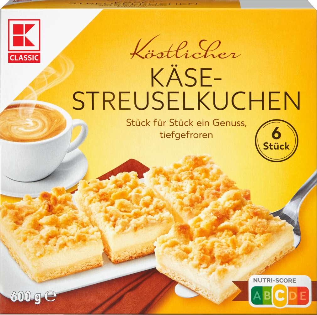 Abbildung des Sortimentsartikels K-Classic Käse-Streuselkuchen600g