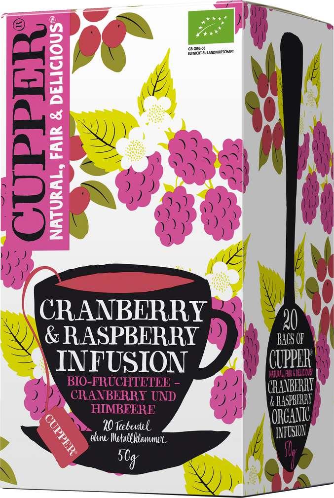 Abbildung des Sortimentsartikels Cupper Bio-Früchtetee Cranberry & Raspberry 20x2,5g