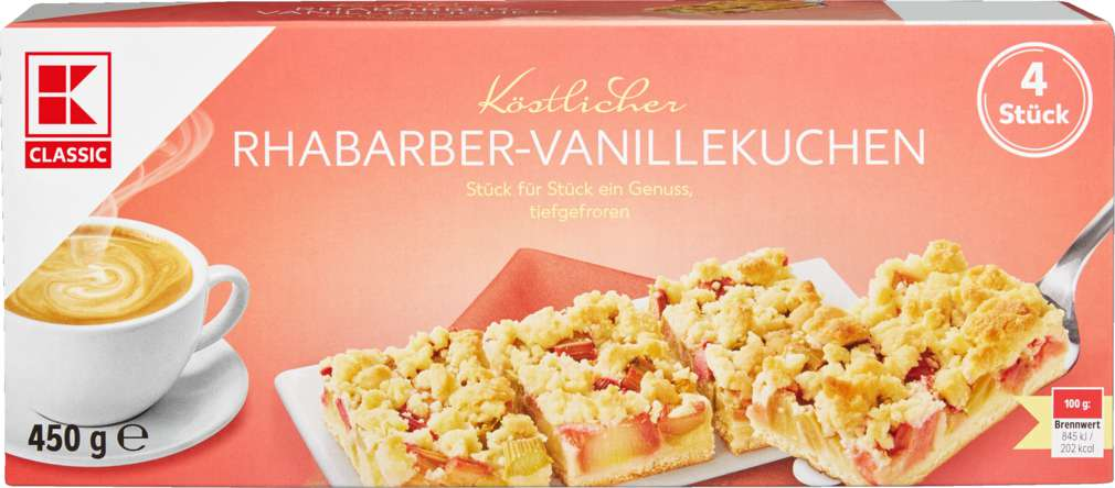 Abbildung des Sortimentsartikels K-Classic Rhabarber-Vanillekuchen 450g
