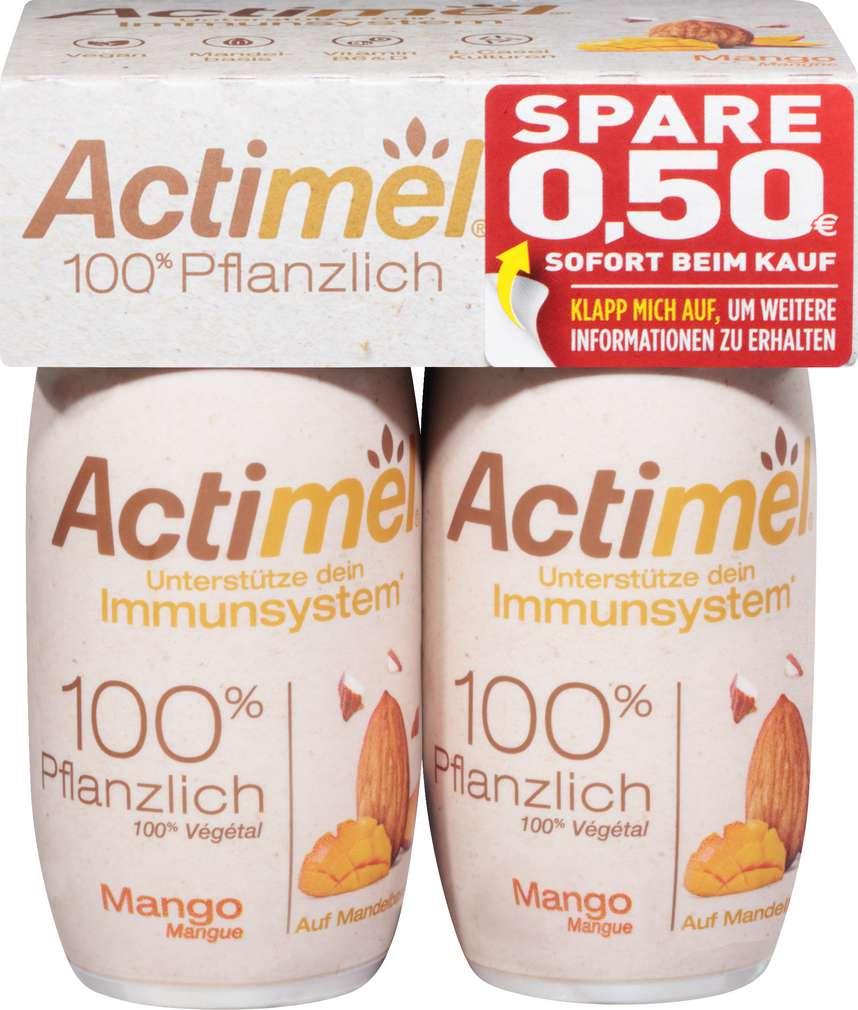 Abbildung des Sortimentsartikels Danone Actimel Mandel Mango lf 4x100g