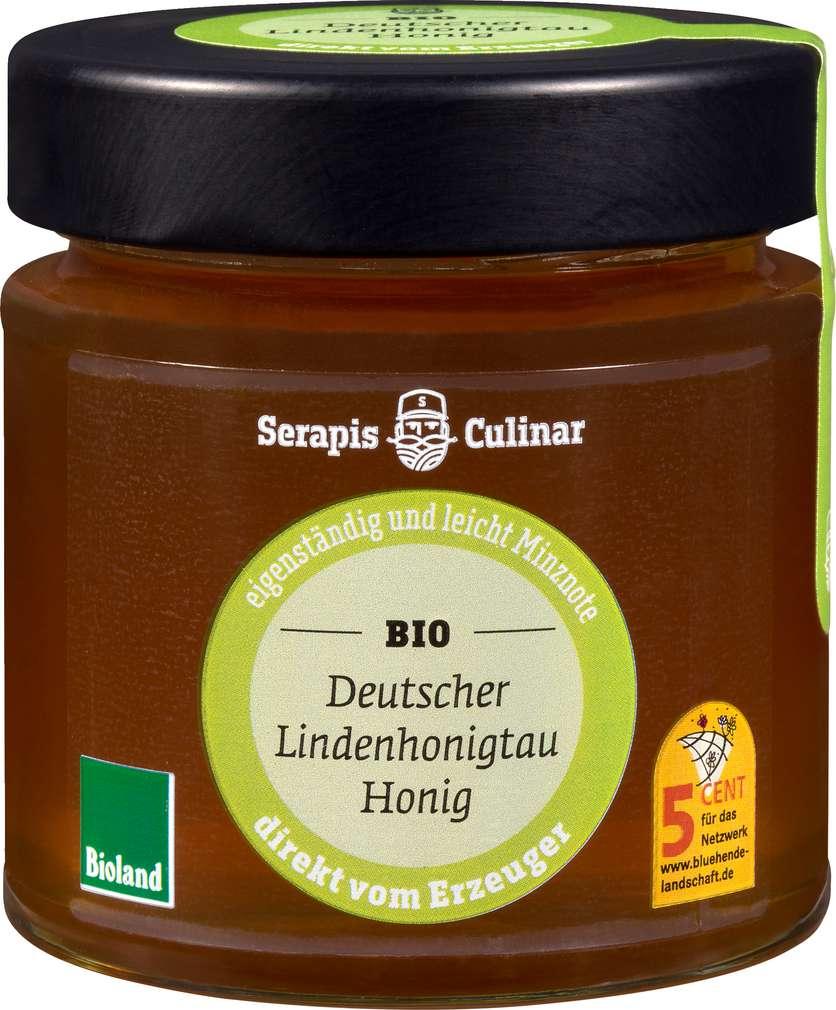 Abbildung des Sortimentsartikels Serapis Culinar Bio-Lindenhonigtau 250g