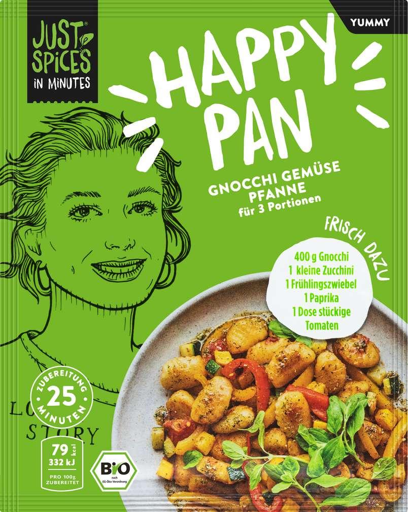 Abbildung des Sortimentsartikels Just Spices Bio-Gewürz Gnocchi Gemüse Pfannne lf 23g