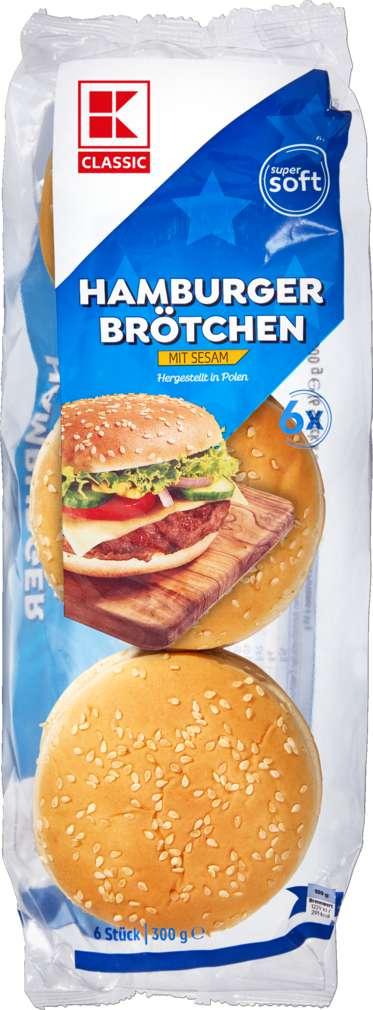 Abbildung des Sortimentsartikels K-Classic Hamburger Sesam 6 Stück = 300g