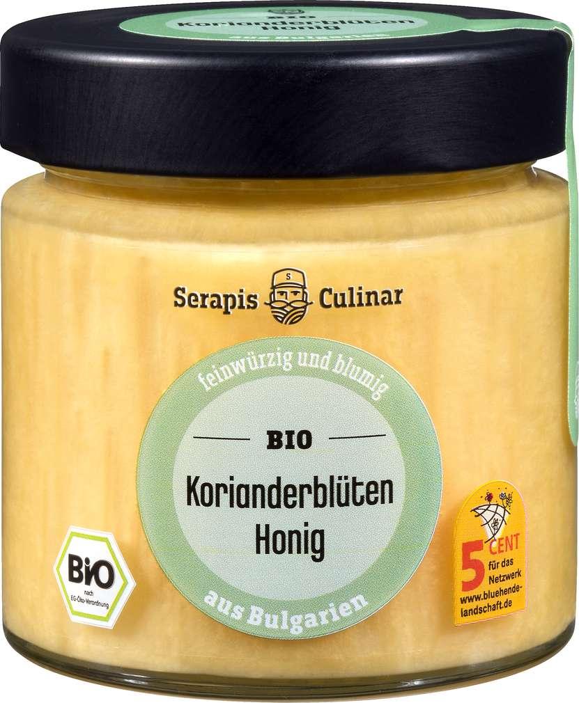 Abbildung des Sortimentsartikels Serapis Culinar Bio-Korianderblüten-Honig 250g