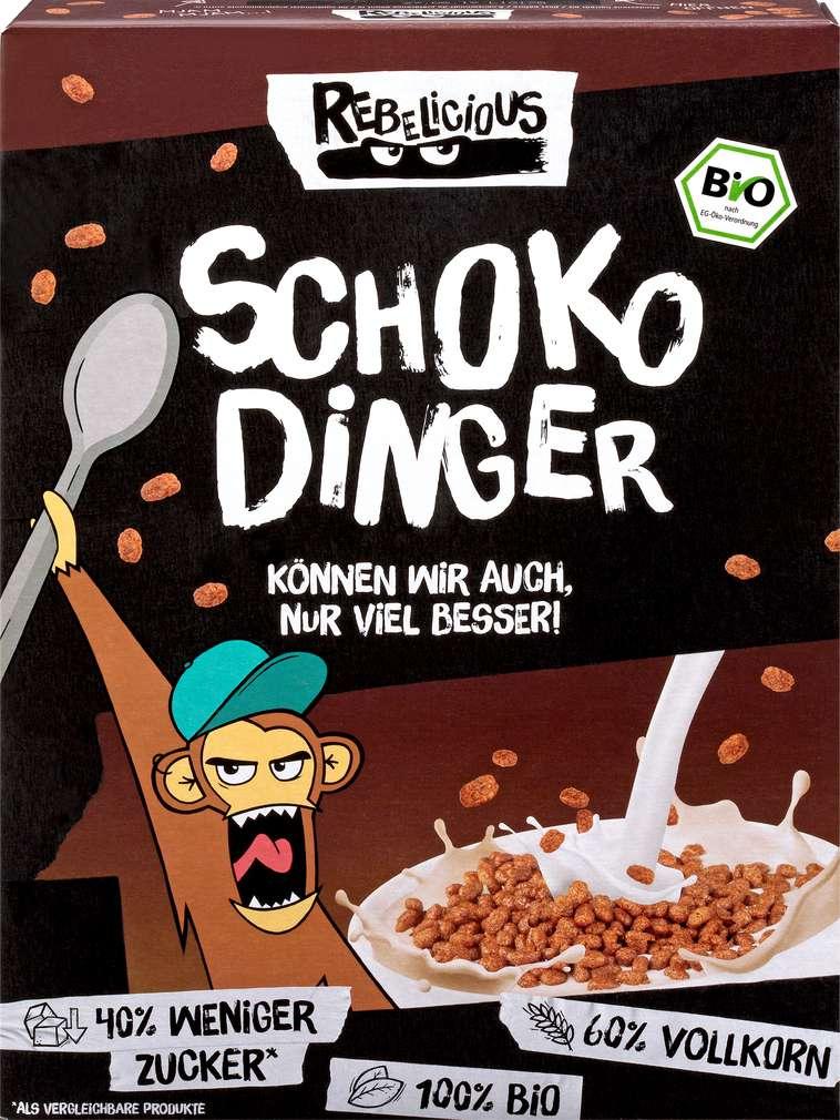 Abbildung des Sortimentsartikels Helden Snacks Bio-Schoko Dinger Rebelicious 275g