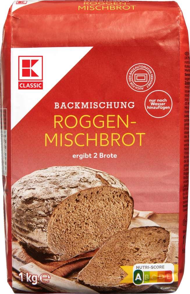 Abbildung des Sortimentsartikels K-Classic Brotbackmischung Roggenmischbrot 1kg