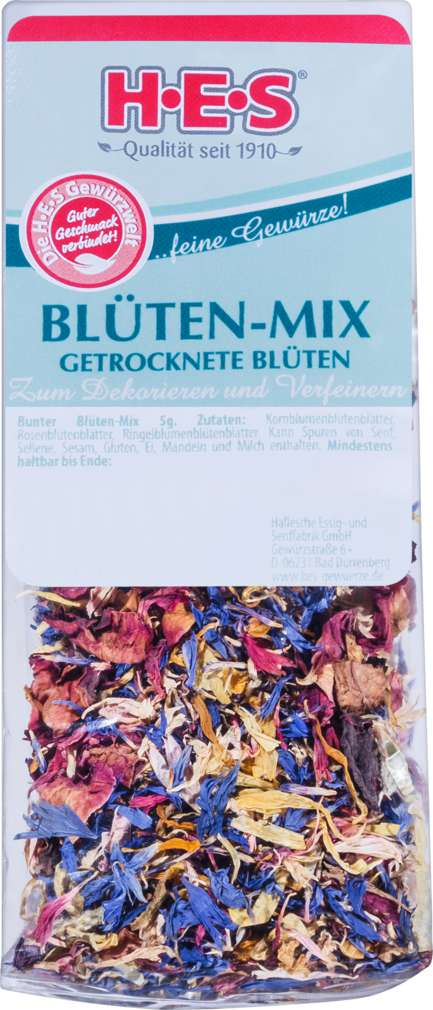Abbildung des Sortimentsartikels HES Blüten-Mix bunt 5g