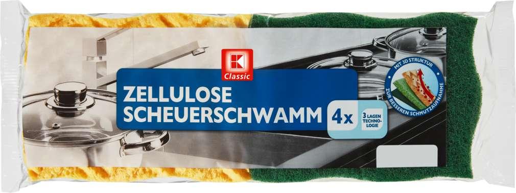 Abbildung des Sortimentsartikels K-Classic Zellulose Scheuerschwamm 4 Stück