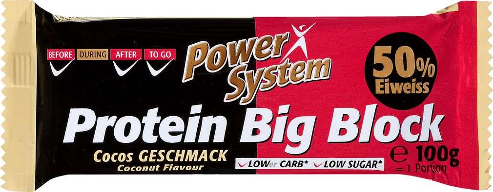 Abbildung des Sortimentsartikels Power System Protein Big Block Cocos 100g