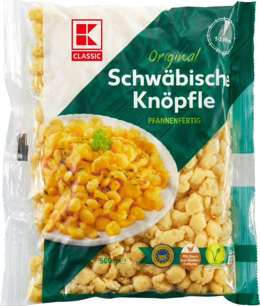 Abbildung des Sortimentsartikels K-Classic Schwäbische Knöpfle g.g.A., pfannenfertig 500g