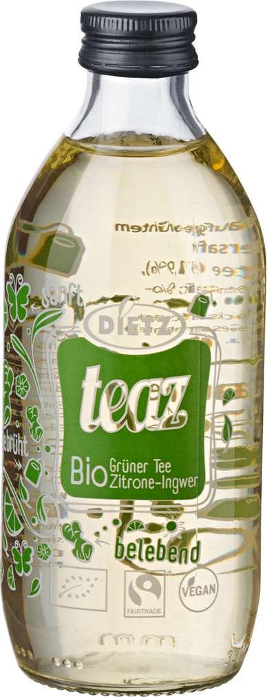 Abbildung des Sortimentsartikels Dietz teaz Bio Grüner Tee Zitrone-Ingwer 0,33l