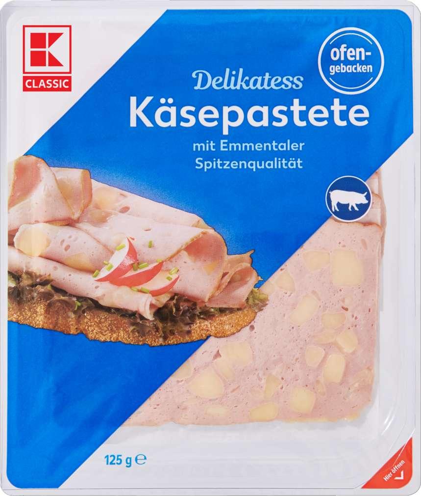 Abbildung des Sortimentsartikels K-Classic Käsepastete gebacken 125g
