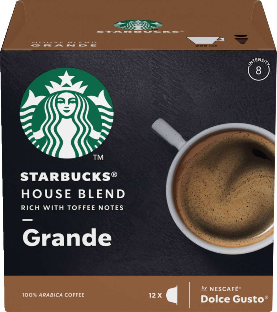 Abbildung des Sortimentsartikels Starbucks® by NESCAFÉ® Dolce Gusto® House Blend 12=102g