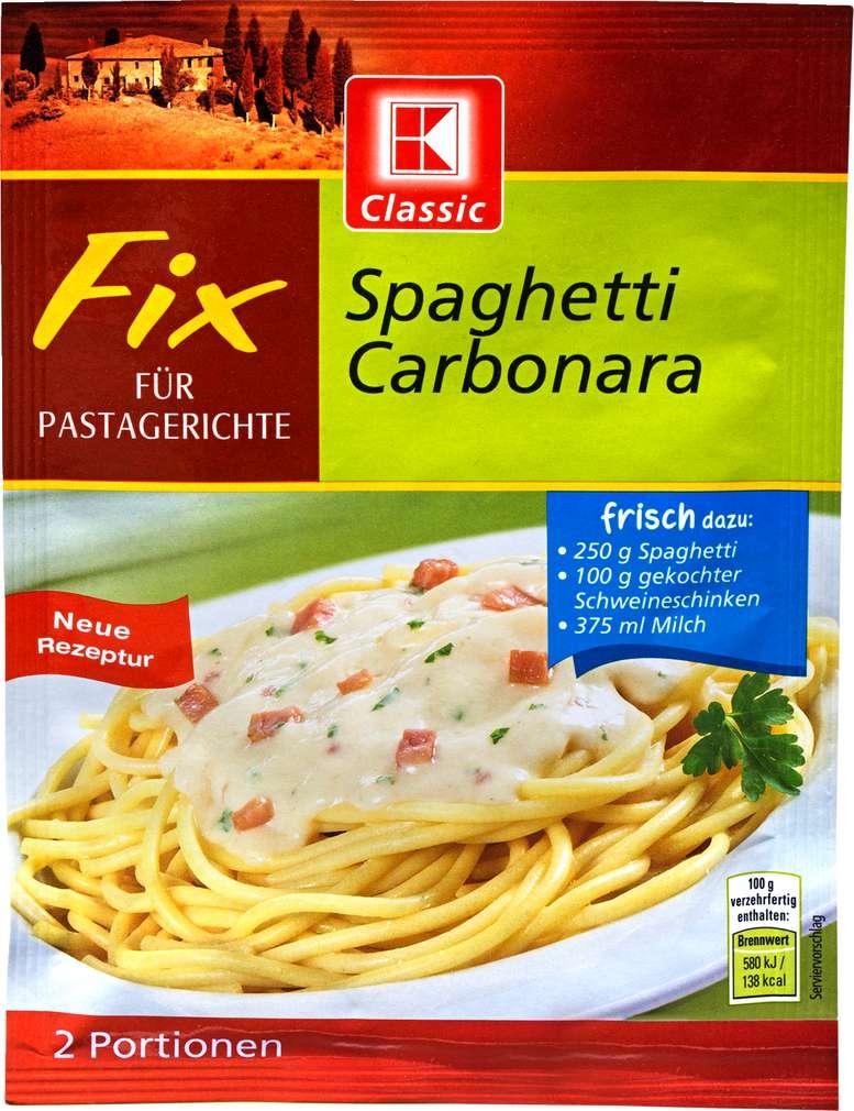 Abbildung des Sortimentsartikels K-Classic Fix für Pastagerichte Spaghetti Carbonara 30g