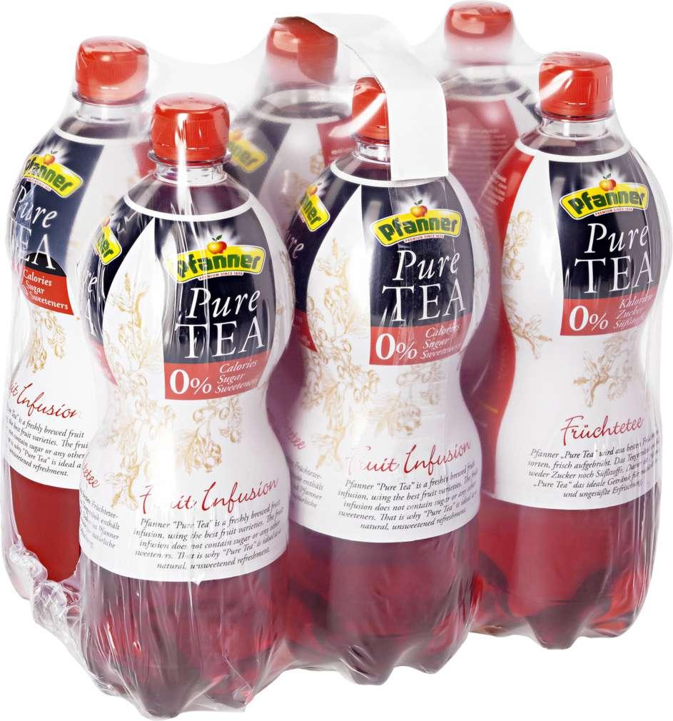 Abbildung des Sortimentsartikels Pfanner Pure Tea Früchtetee 6x1l