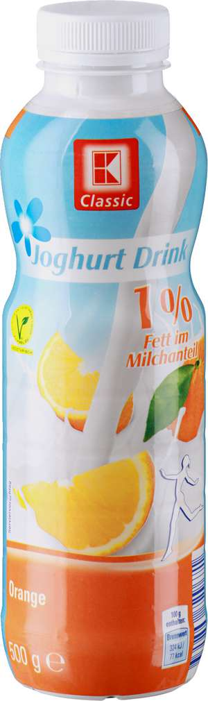 Abbildung des Sortimentsartikels K-Classic Joghurt Drink Orange 1% 500g