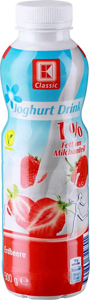 Abbildung des Sortimentsartikels K-Classic Joghurt Drink Erdbeere 1% 500g