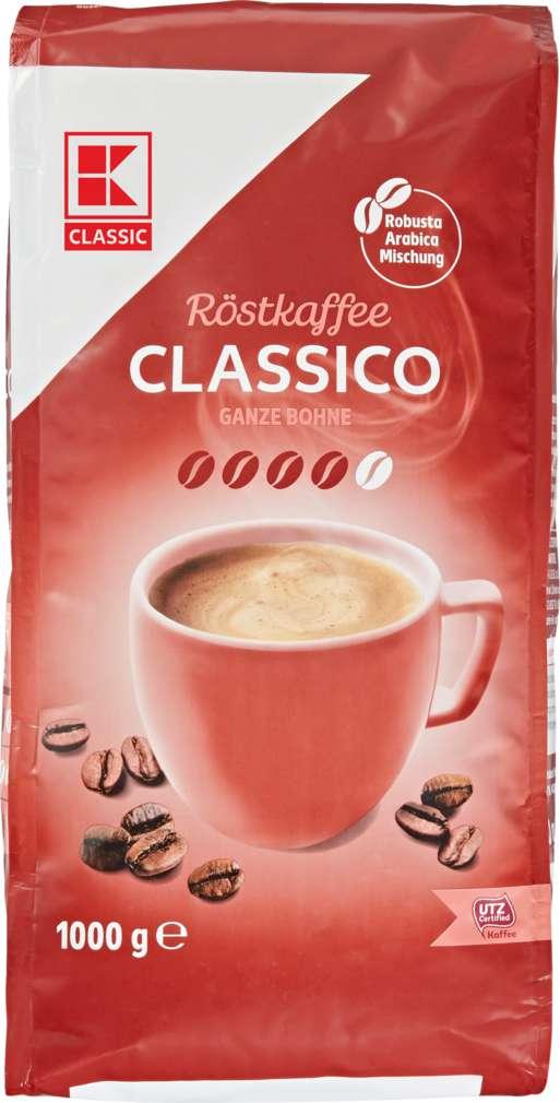 Abbildung des Sortimentsartikels K-Classic Classico Ganze Bohne 1000g