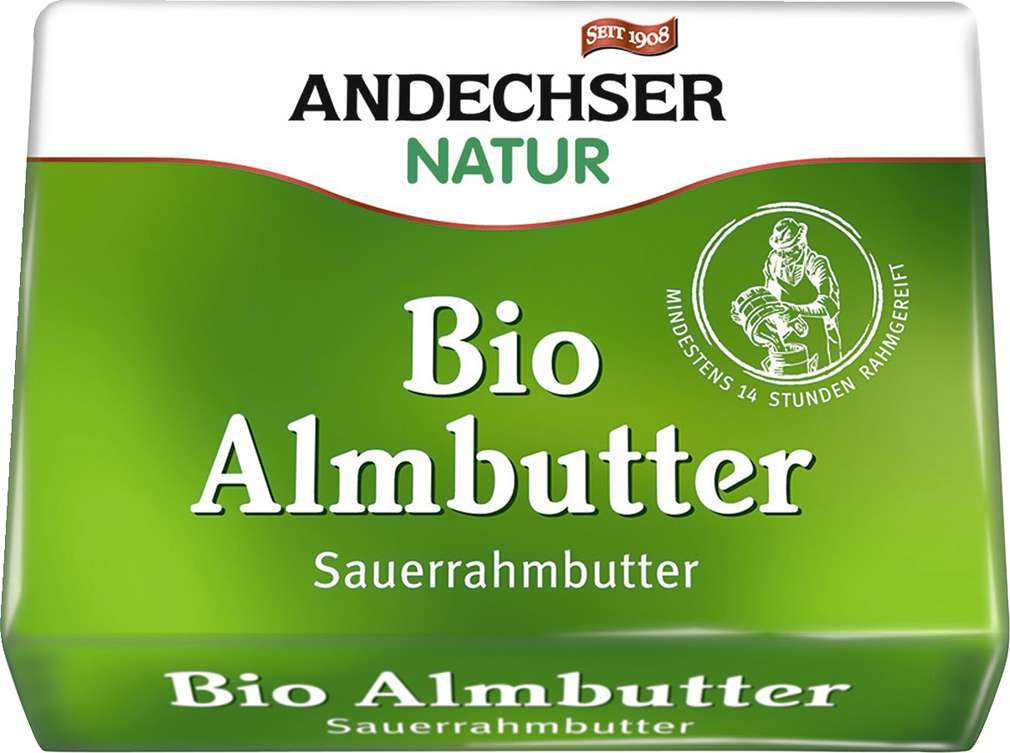 Abbildung des Sortimentsartikels Andechser Natur Bio Almbutter 250g