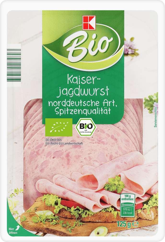 Abbildung des Sortimentsartikels K-Bio Kaiserjagdwurst 125g