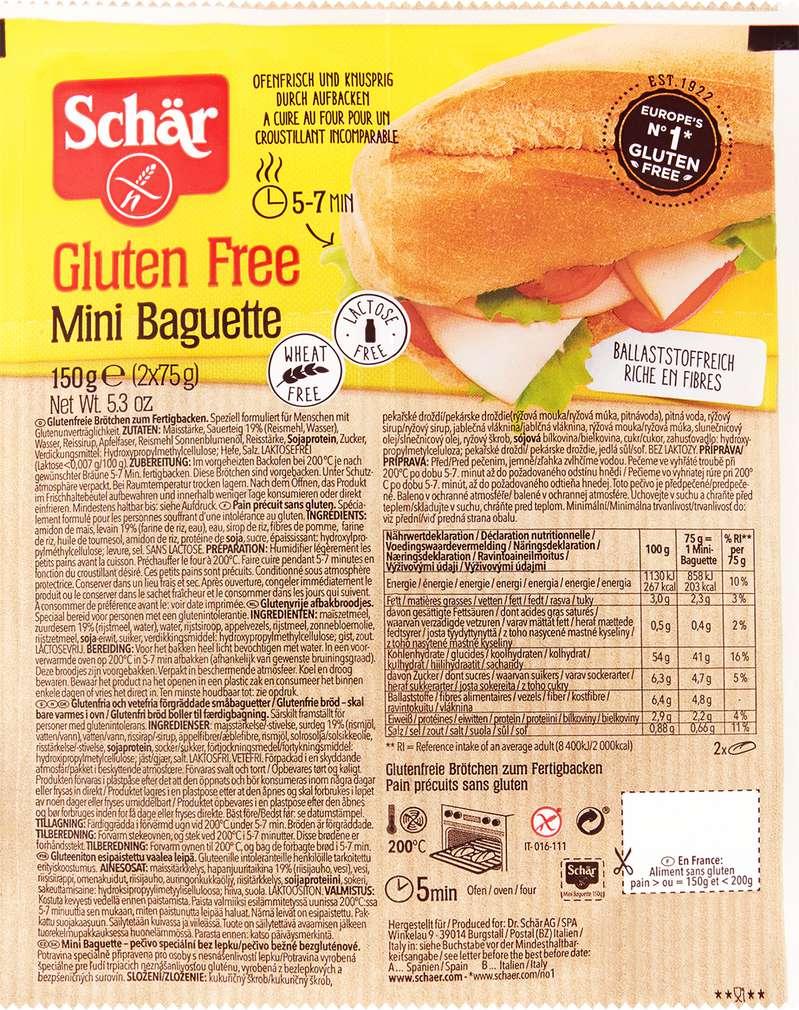 Abbildung des Sortimentsartikels Schär Mini-Baguette glutenfrei 150g