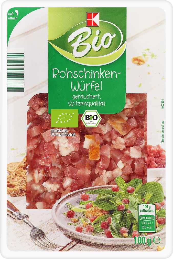 Abbildung des Sortimentsartikels K-Bio Rohschinken-Würfel 100g