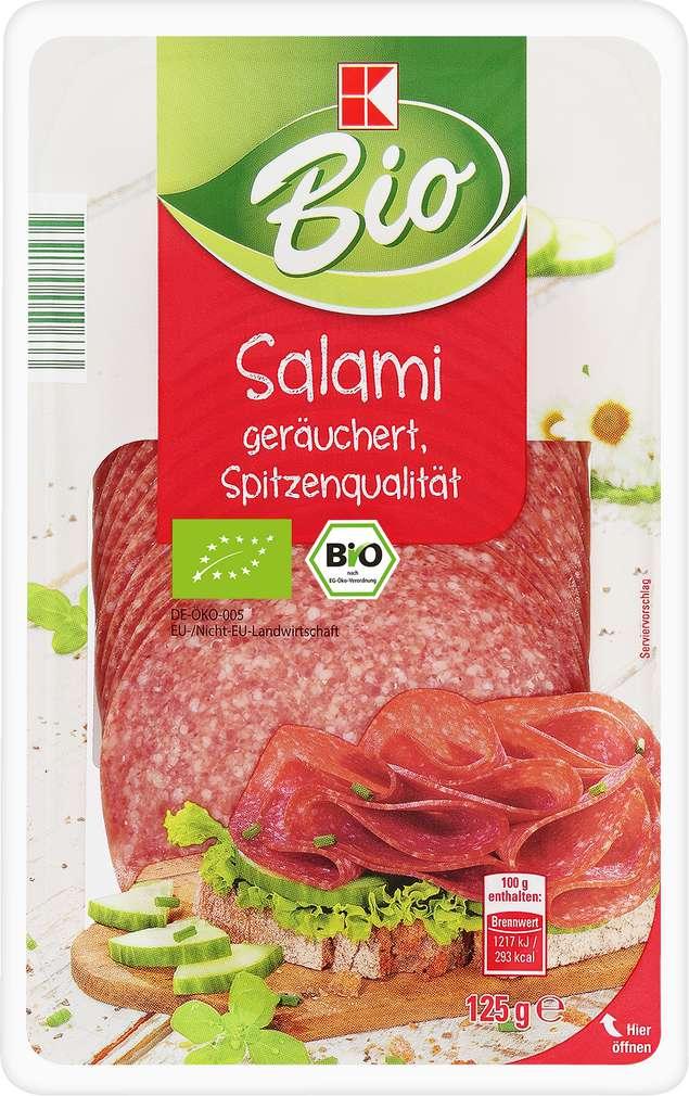 Abbildung des Sortimentsartikels K-Bio Salami geräuchert 125g