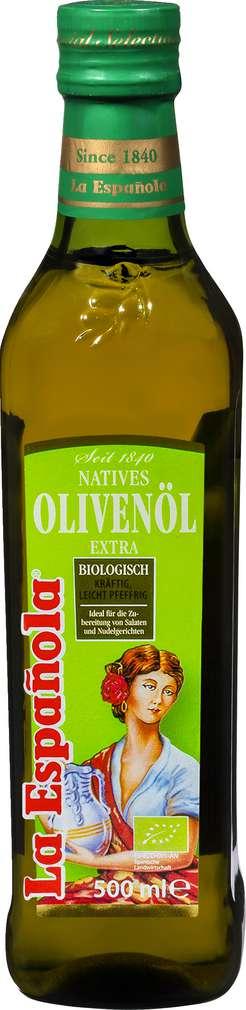 Abbildung des Sortimentsartikels La Española Bio Natives Olivenöl Extra 500ml