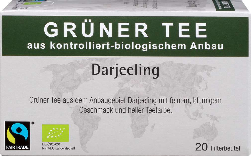 Abbildung des Sortimentsartikels Abtswinder Grüner Tee Darjeeling 35g, 20 Beutel