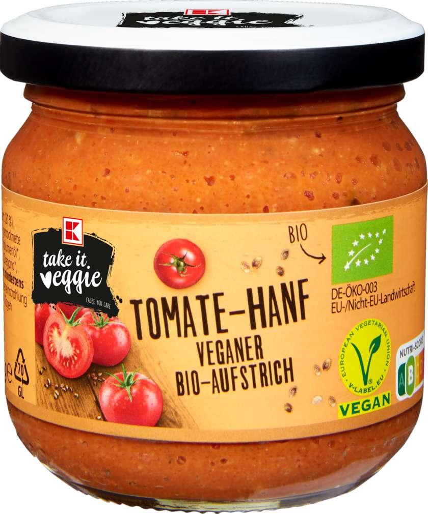 Abbildung des Sortimentsartikels K-Take it Veggie Bio-Aufstrich Tomate-Hanf 180g