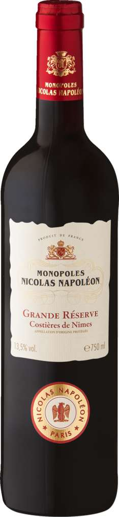 Abbildung des Sortimentsartikels Monopoles Nicolas Napoléon Grande Réserve Costières de Nîmes 0,75l