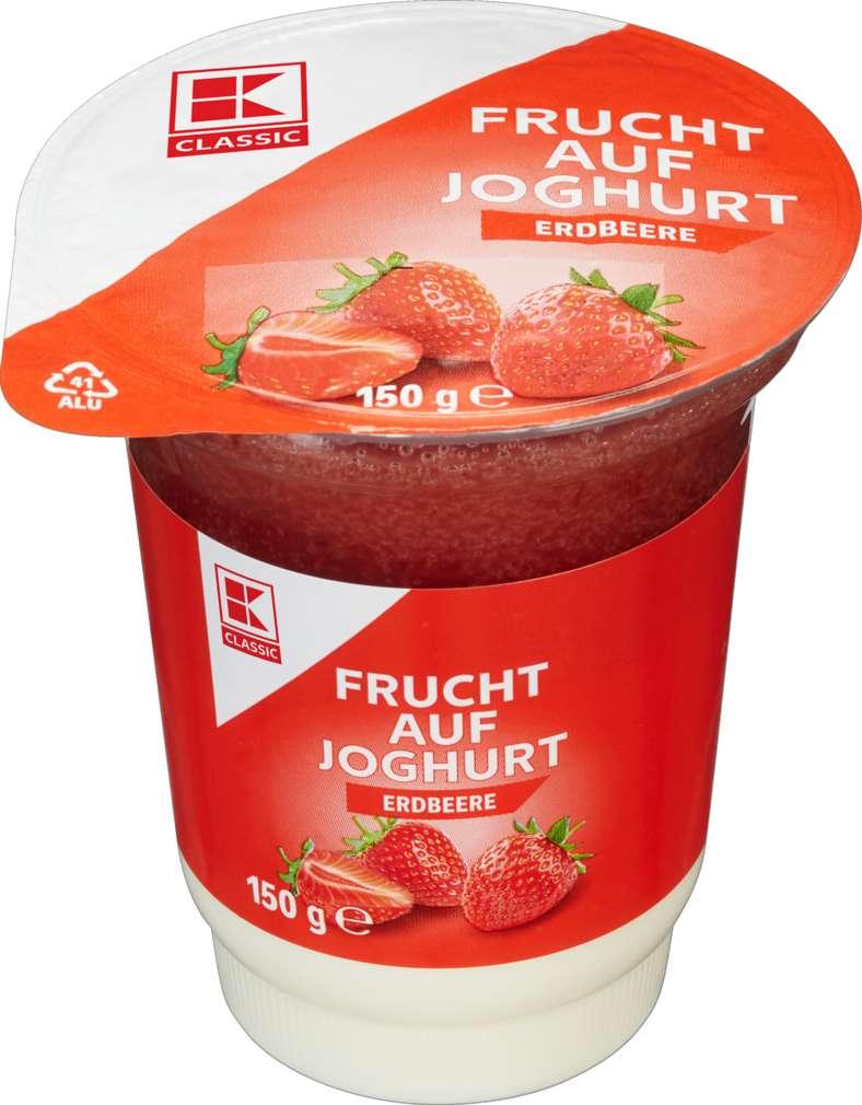 Abbildung des Sortimentsartikels K-Classic Frucht auf Joghurt Erdbeere 150g