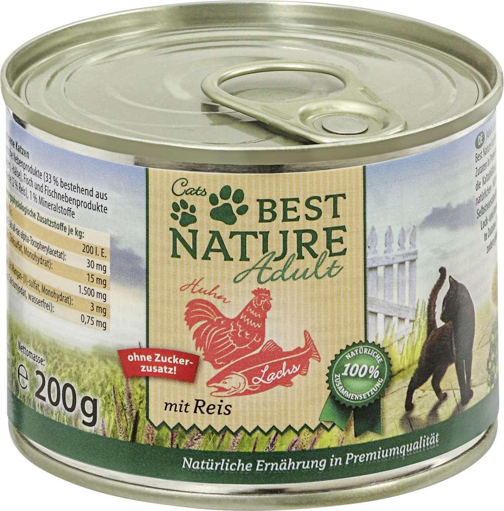 Abbildung des Sortimentsartikels Best Nature Katzennahrung Lachs/Huhn 200g