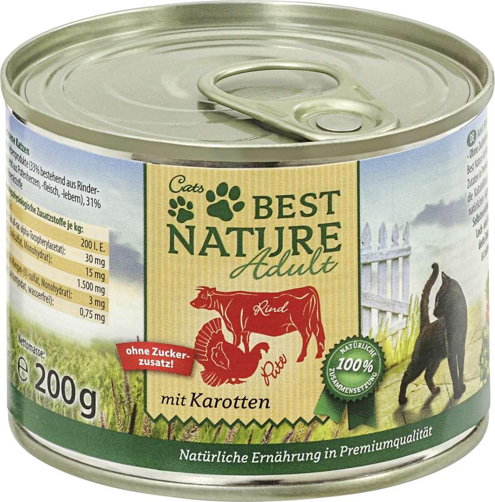 Abbildung des Sortimentsartikels Best Nature Katzennahrung Rind/Pute/Karotte 400g