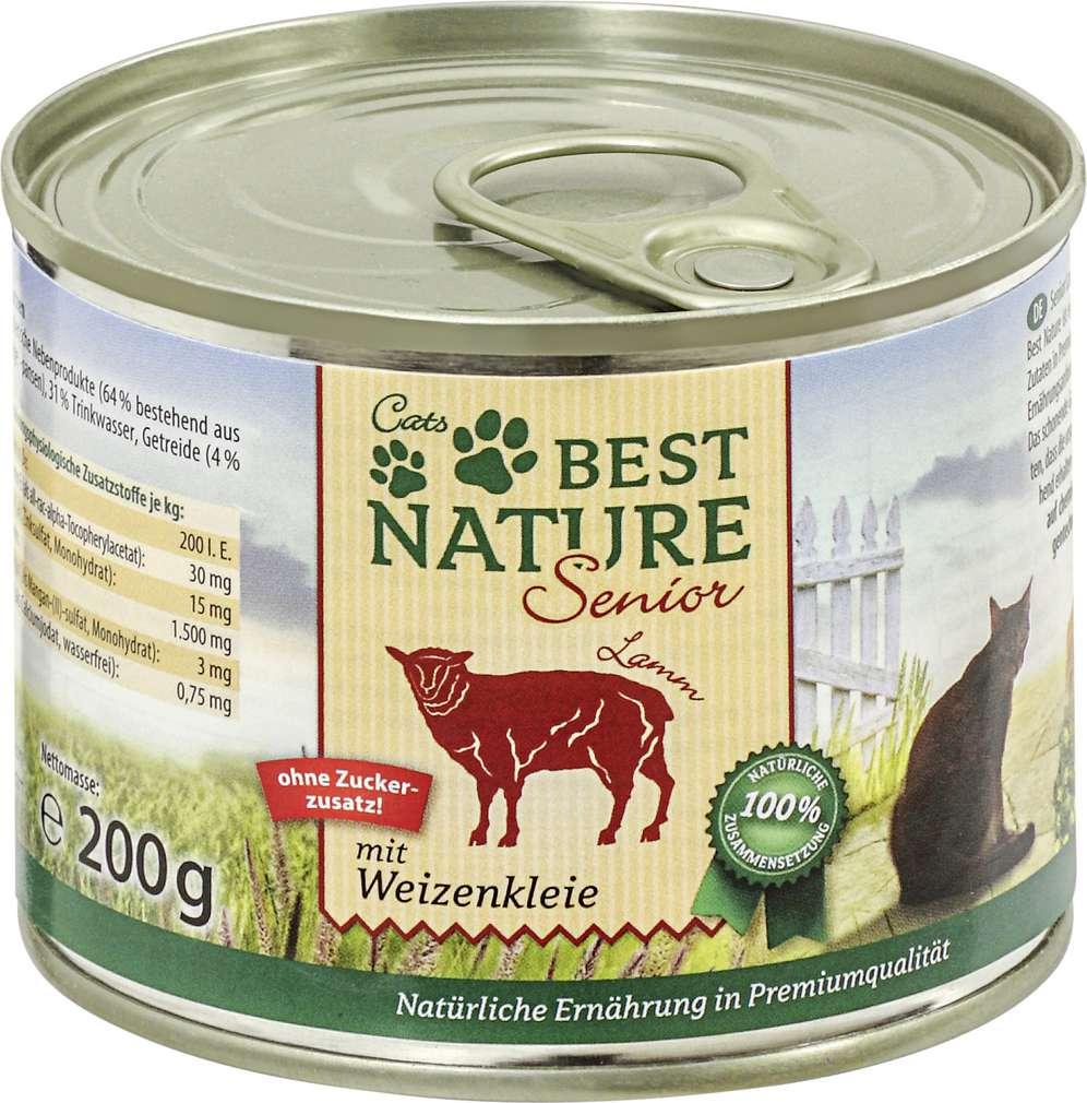 Abbildung des Sortimentsartikels Best Nature Senior Katzennahrung Lamm/Weizenkleie 200g
